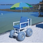 Beach Access Chair, 4 large wheels, 300 lb capacity