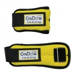 CanDo® Weight Straps - 1 lb Set (2 each: 1/2 lb weight) - Yellow