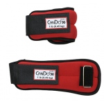 CanDo® Weight Straps - 2 lb Set (2 each: 1 lb weight) - Red