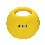 CanDo® One Handle Medicine Ball - 4 lb - Yellow