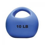 CanDo® One Handle Medicine Ball - 10 lb - Blue