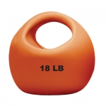 CanDo® One Handle Medicine Ball - 18 lb - Gold