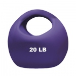 CanDo® One Handle Medicine Ball - 20 lb - Purple