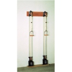 Chest Weight Pulley System - Single handle (mid) - two towers - 10 x 2.2 lb weights