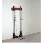 Chest Weight Pulley System - Dual handle (lower, mid) - two towers - 10 x 2.2 lb weights
