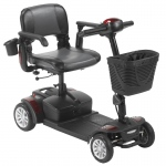 Drive Medical Spitfire EX2 4-Wheel Travel Scooter, Standard Battery