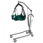 "Hydraulic Powered Patient Lift - 4 point cradle - 3"" casters only"