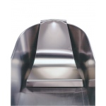 Adjustable headrest for stainless steel whirlpool