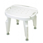 Adjustable shower seat with back , no arms