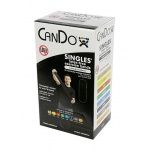 CanDo® Latex Free Exercise Band - Box Of 30, 5' Length - Black - X-Heavy