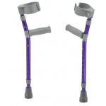 "Pediatric forearm crutches, pair, small (15"" to 22"" grip height), purple"