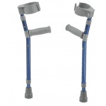 "Pediatric forearm crutches, pair, small (15"" to 22"" grip height), blue"
