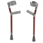 "Pediatric forearm crutches, pair, small (15"" to 22"" grip height), red"