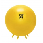 "CanDo® Inflatable Exercise Ball - with Stability Feet - Yellow - 18"" (45 cm)"
